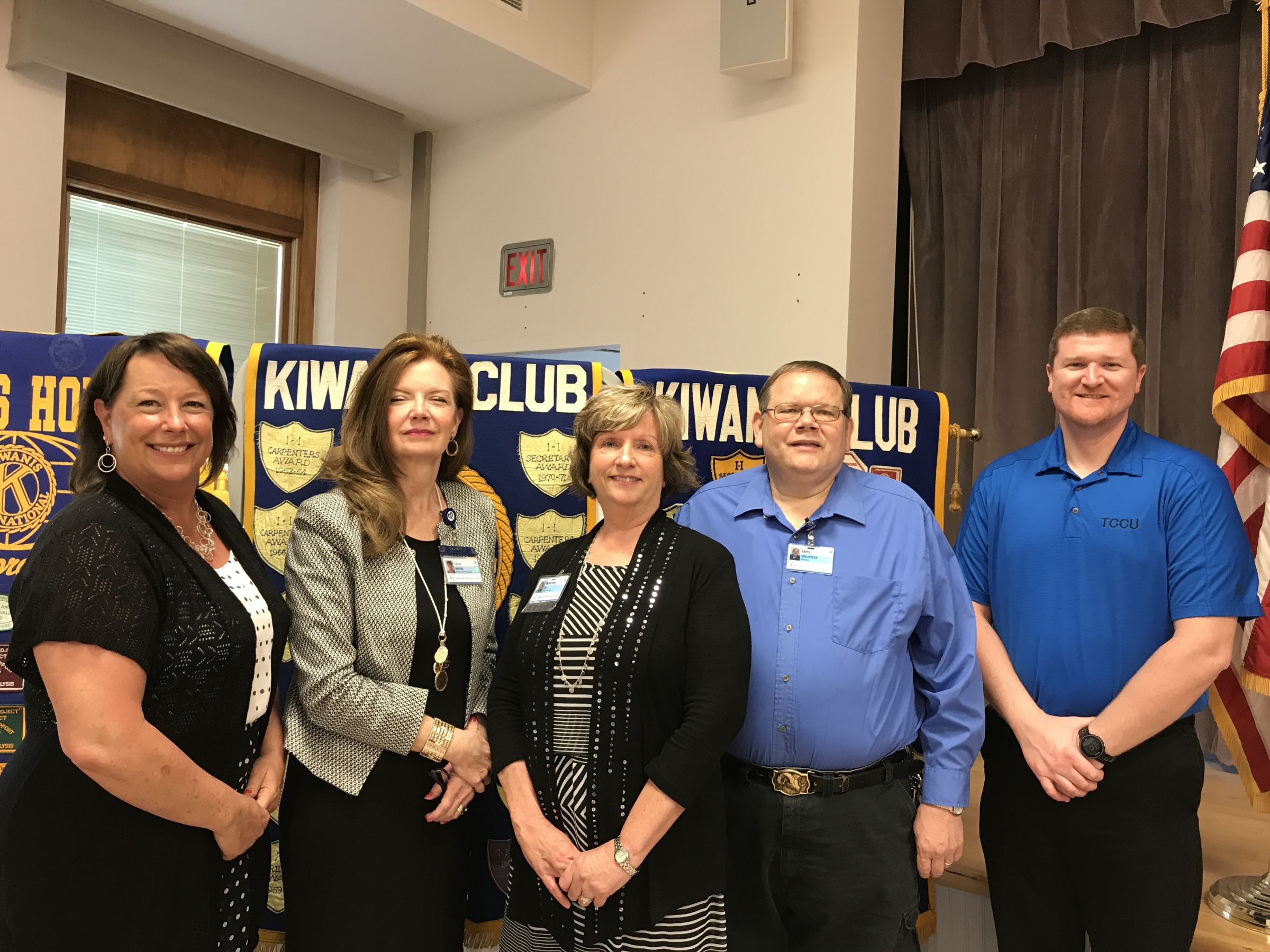 Officials From Quad County Home Health Care Spoke At Tuesday S Taylorville Kiwanis Club Meeting The Left Program Chairperson Patty